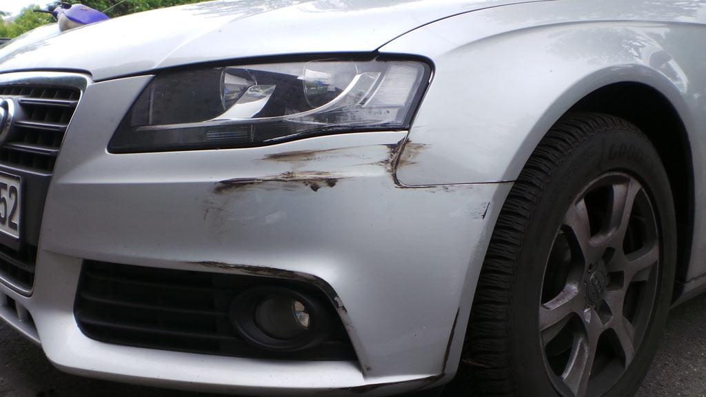 Unfall, Audi in Friedrichshain