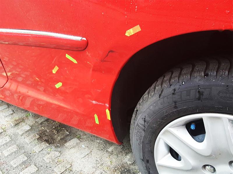 Unfall in Friedrichshain